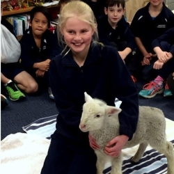 Mitchell the Lamb visits