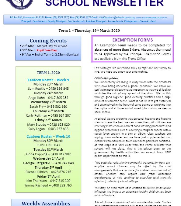 2020 – Term 1 – 19th Mar