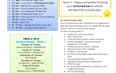 2019 – Term 3 – 26th Sep