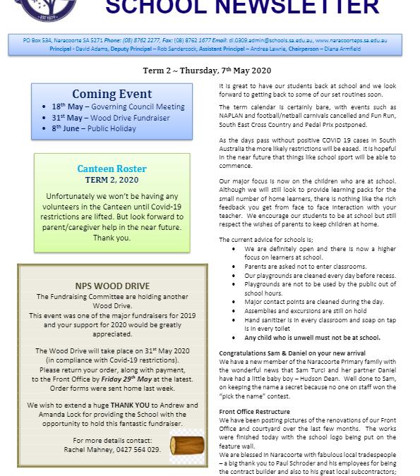 2020 – Term 2 – 7th May