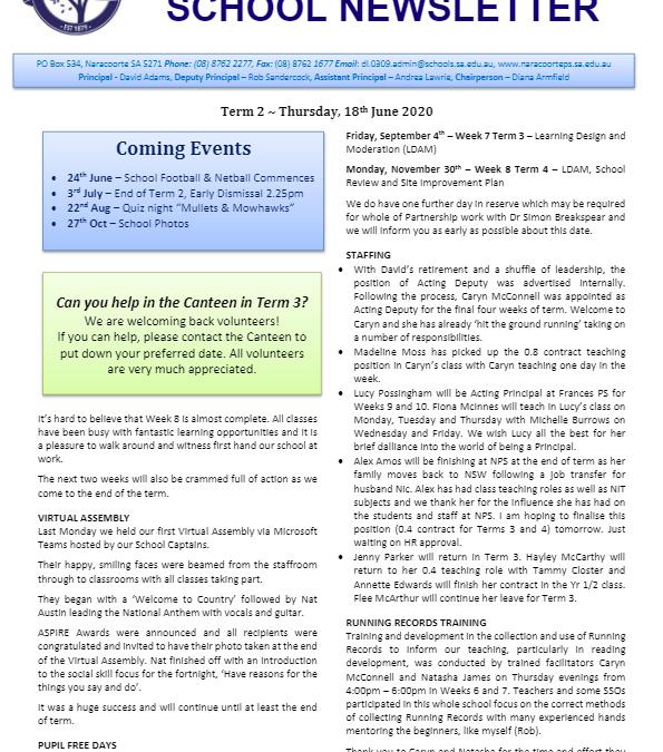 2020 – Term 2 – 18th June